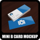 Mini Business Card Mock-Up Pack 2 - GraphicRiver Item for Sale