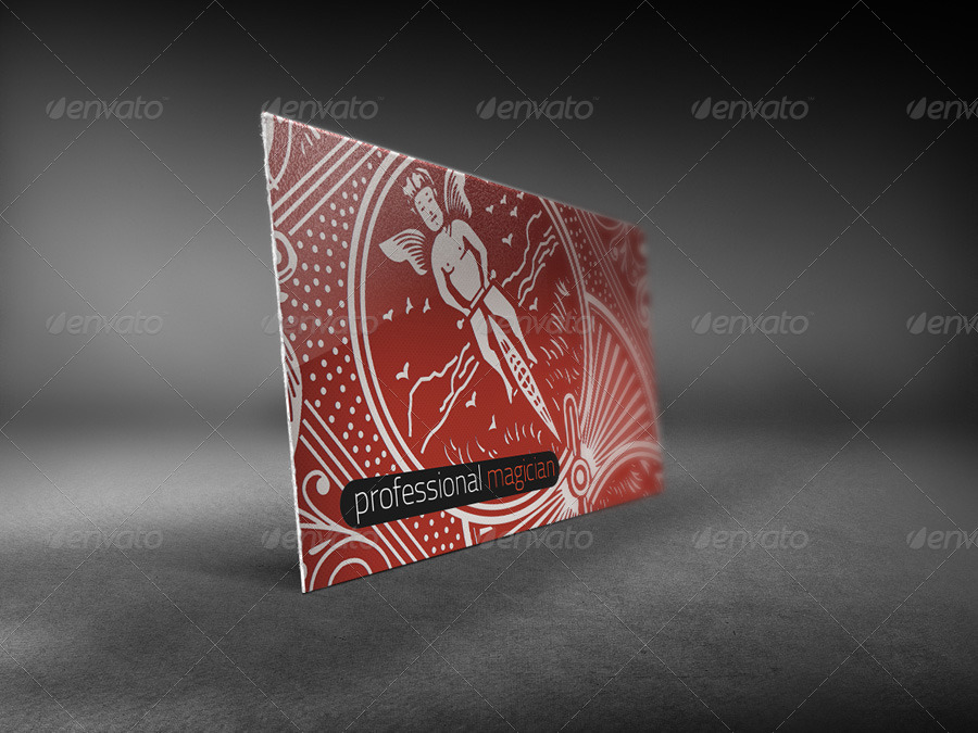 Magician and Poker Player Business Card by time4magic | GraphicRiver