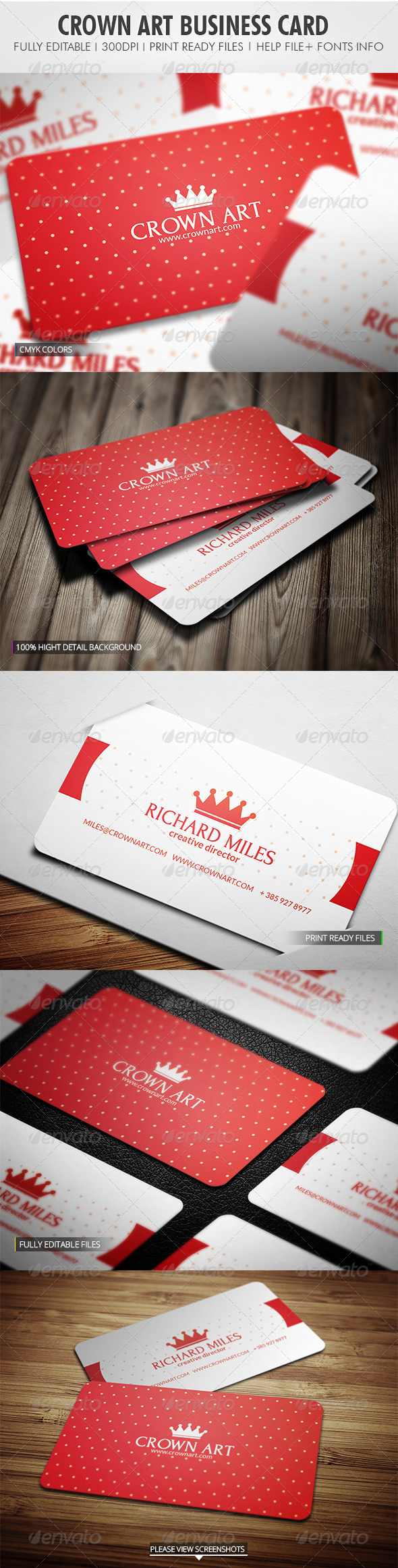 Crown Art Business Card - Corporate Business Cards
