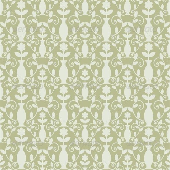 Grey Damask Pattern - Patterns Decorative