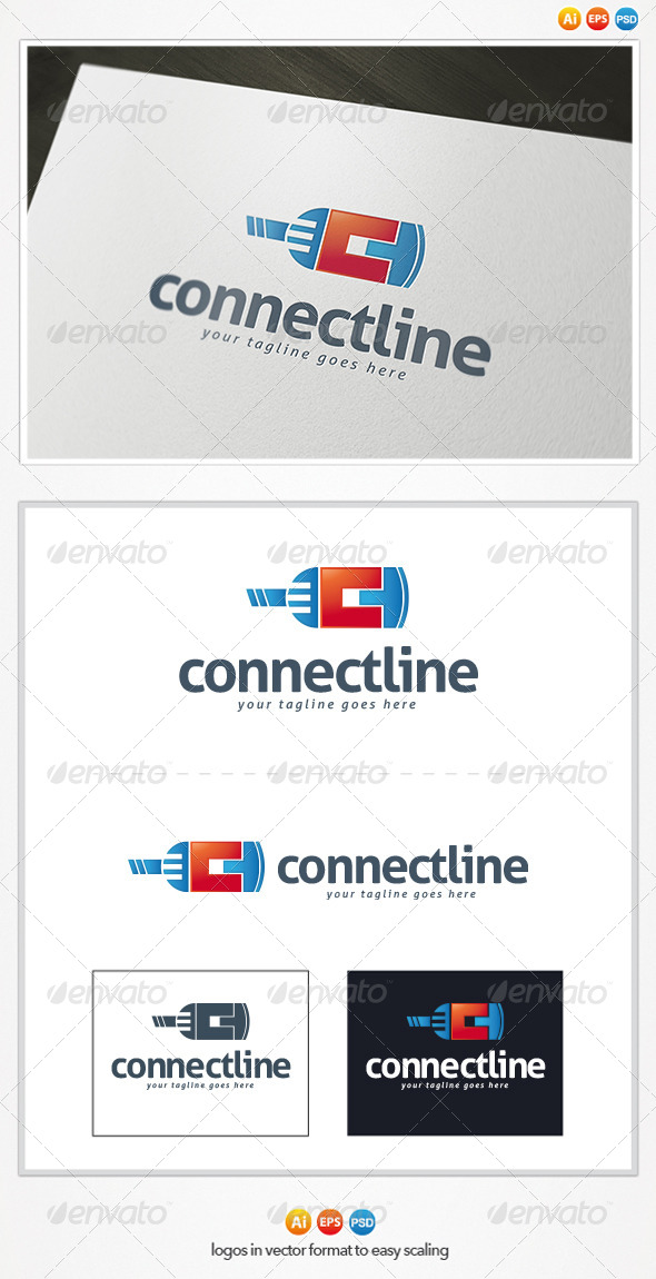 Connect Line Logo - Letters Logo Templates