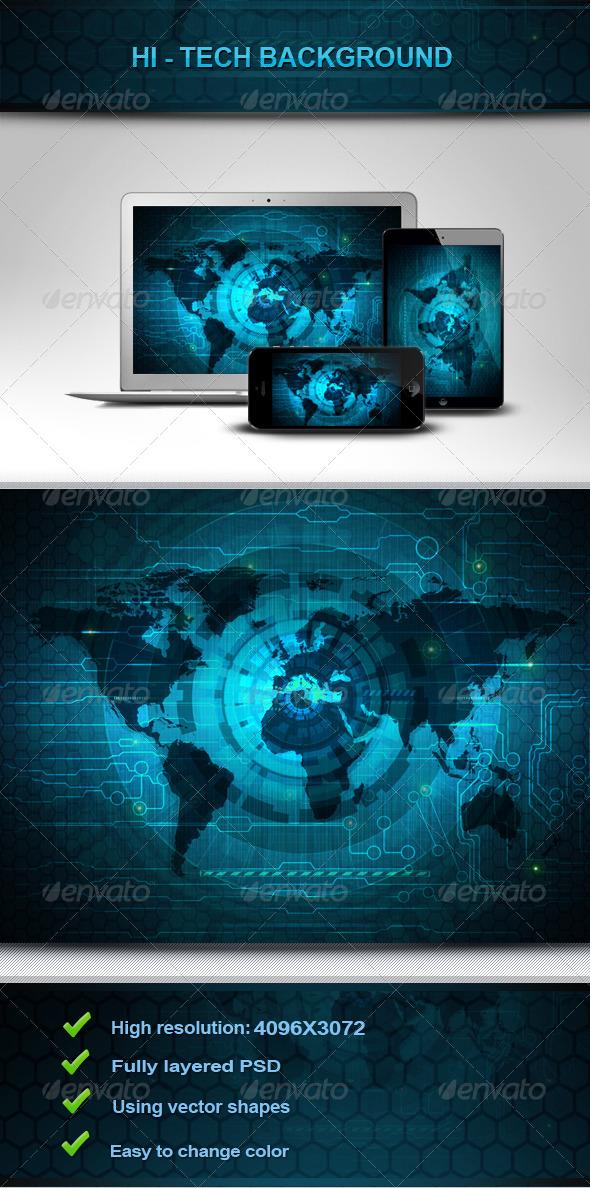 Hi-Tech Backgrounds V1 - Tech / Futuristic Backgrounds