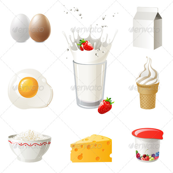 Milk Products - Food Objects