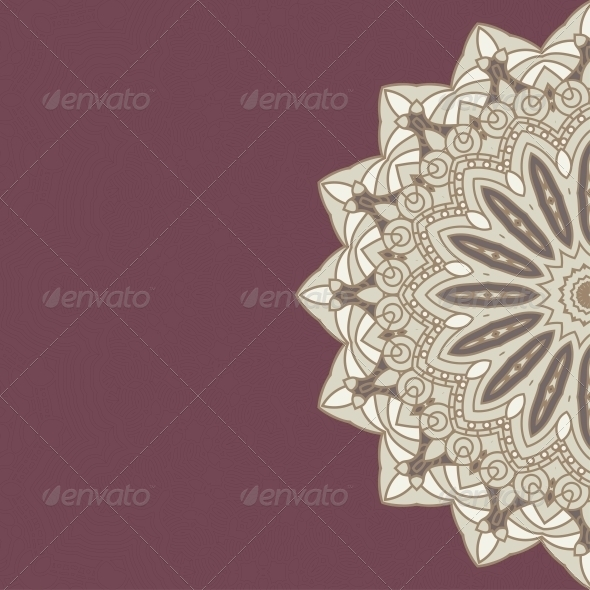 Vector Round Decorative Design Ornament - Patterns Decorative