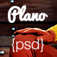 Plano PSD Template - ThemeForest Item for Sale