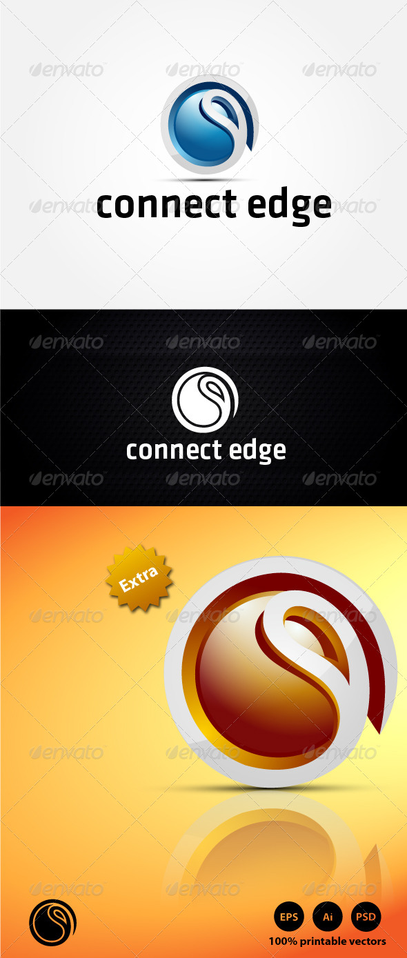 Connect Edge Logo - 3d Abstract