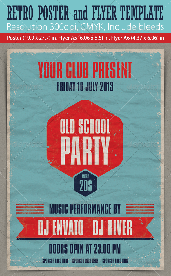 Retro Poster & Flyers - Clubs & Parties Events