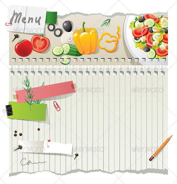 Menu Background - Food Objects