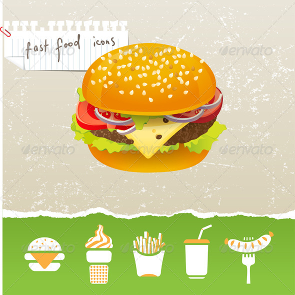 Fastfood Icons - Food Objects