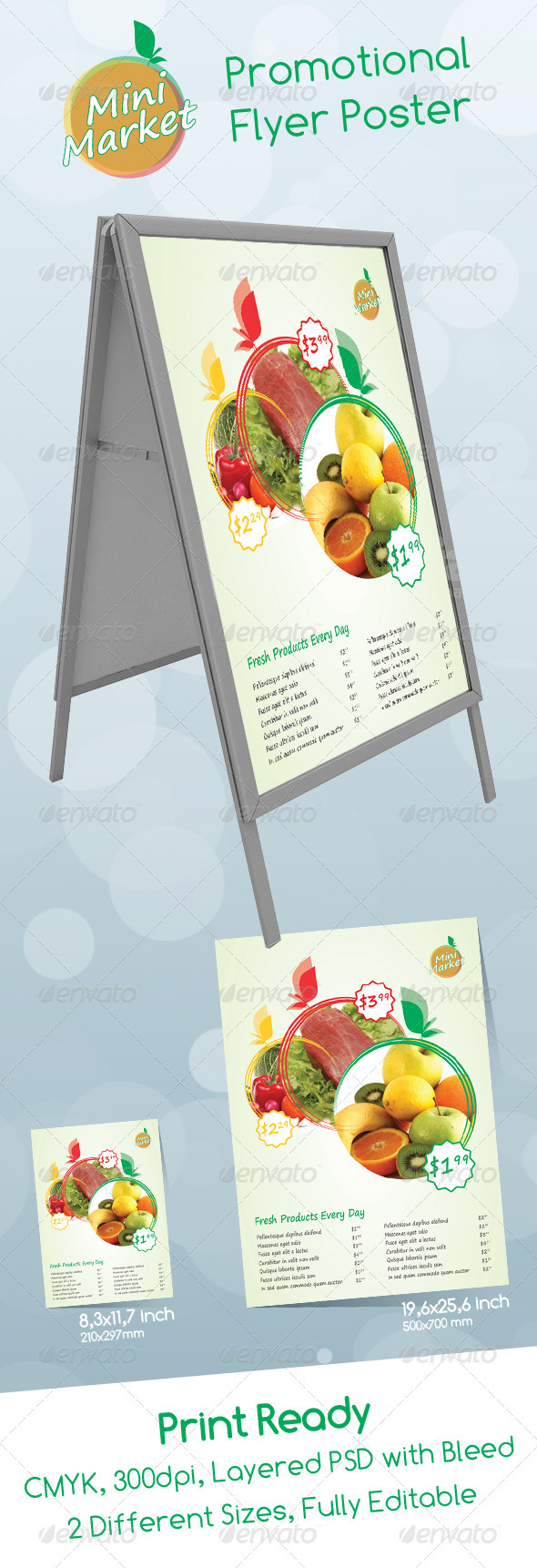 Mini Market Promotional Poster And Flyer - Clubs & Parties Events