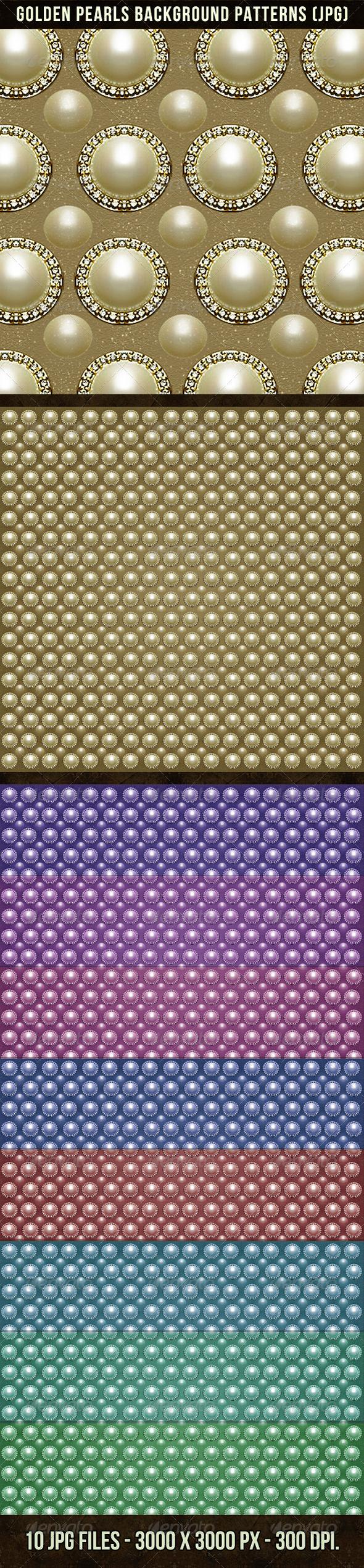 Golden Pearls Background Patterns - Patterns Decorative