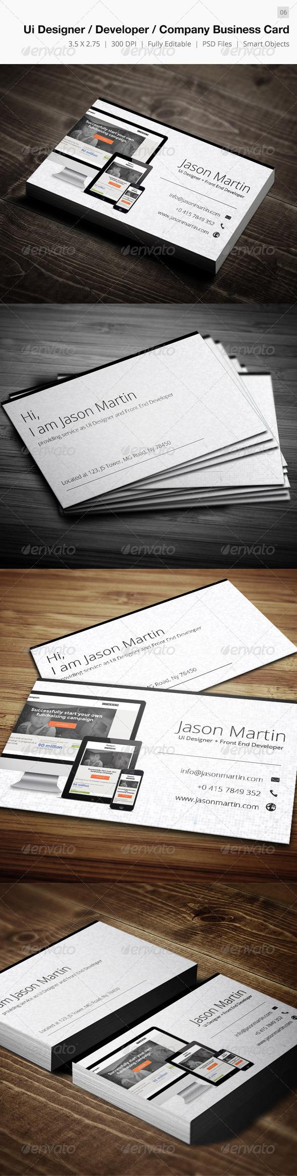 Ui designer/Developer/Company Business Card -06 - Creative Business Cards