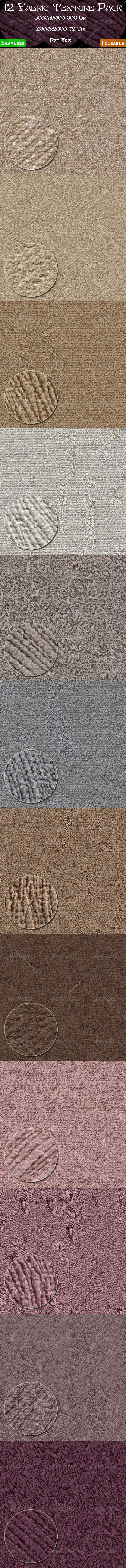 12 Fabric Texture Pack - Fabric Textures