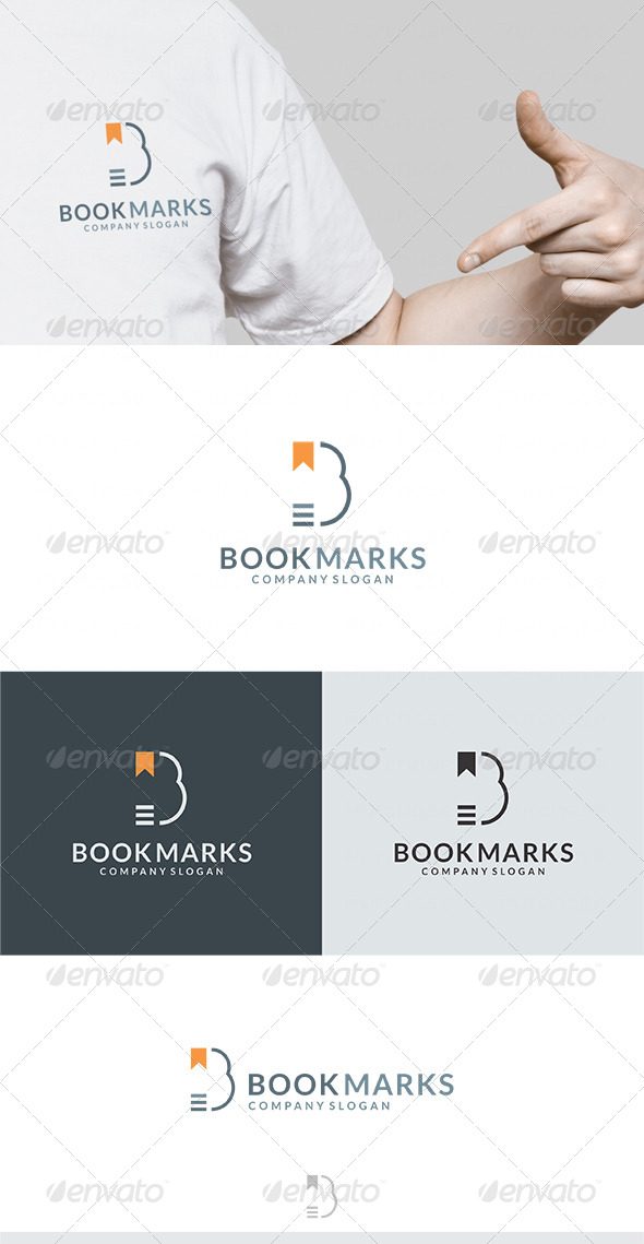 Book Marks Logo - Letters Logo Templates