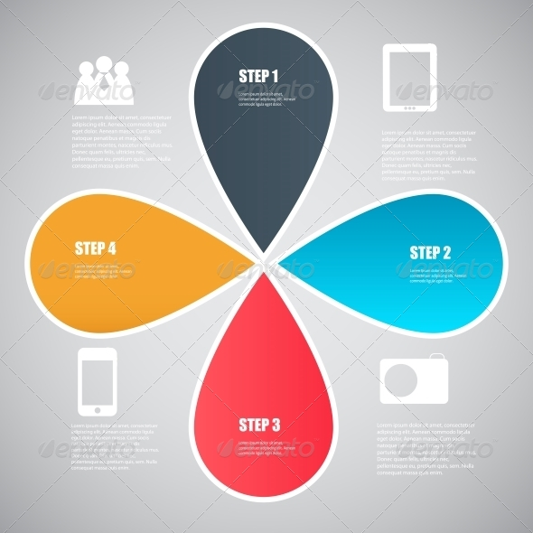 Infographic Template Design Vector Illustration - Web Technology