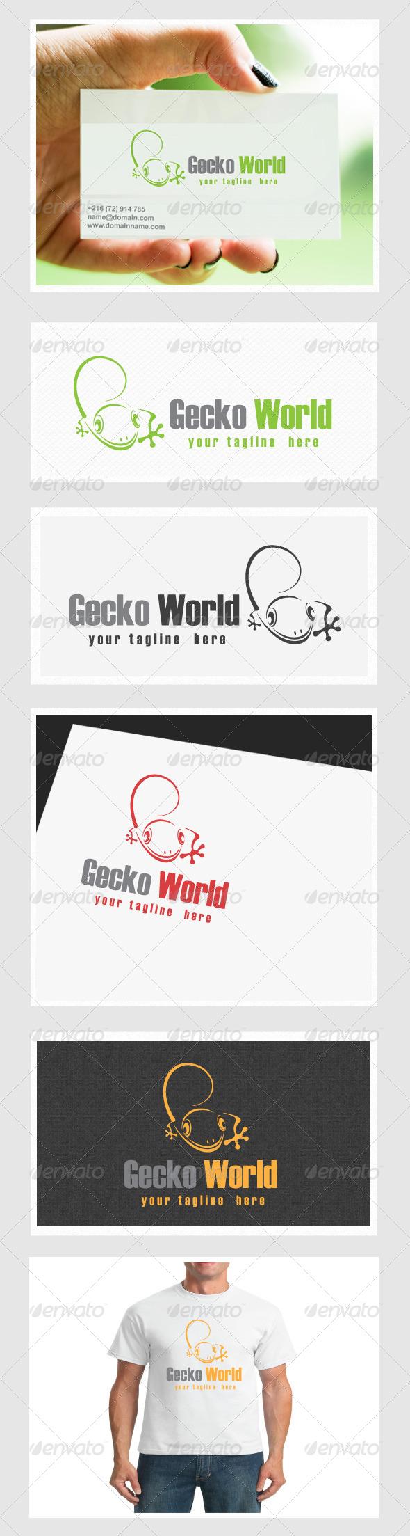 Gecko World - Animals Logo Templates