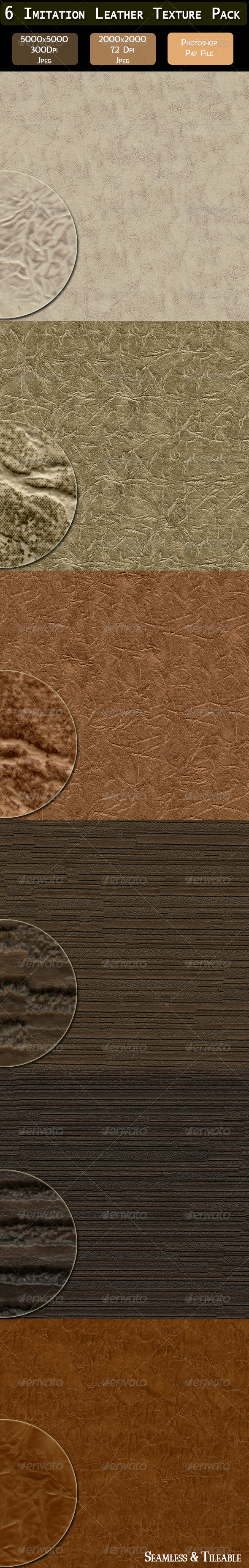 6 Imitation Leather Texture Pack - Fabric Textures