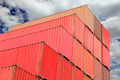 containers in logistics harbor - PhotoDune Item for Sale