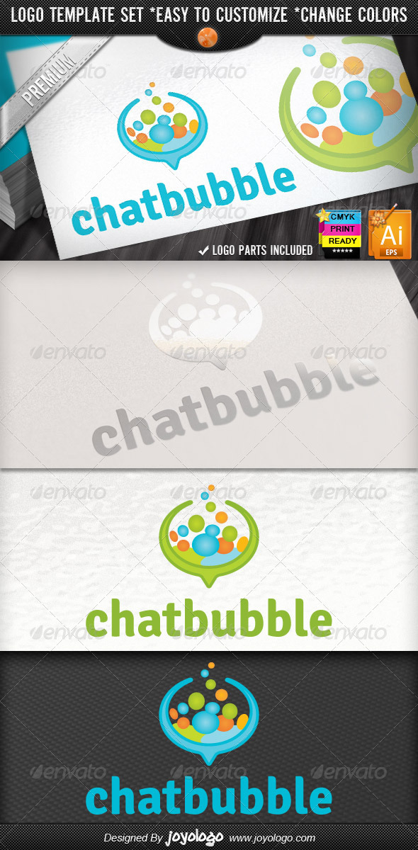 Social Media Applications Speech Bubbles Chat Logo - Symbols Logo Templates