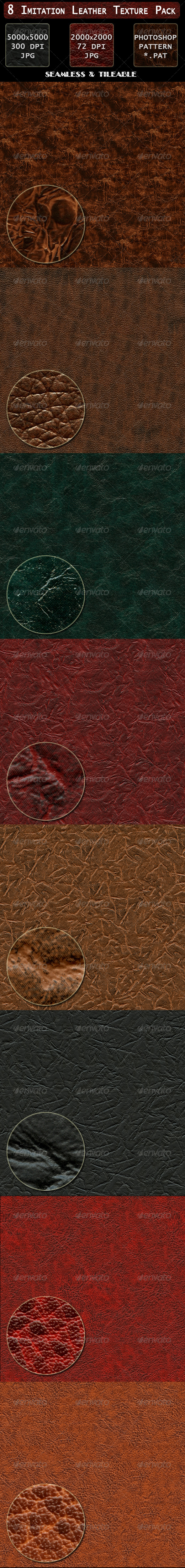 8 Imitation Leather Texture Pack - Fabric Textures
