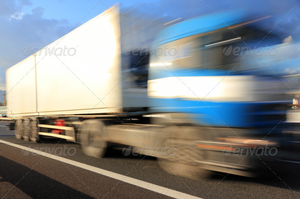 high speed truck - Stock Photo - Images