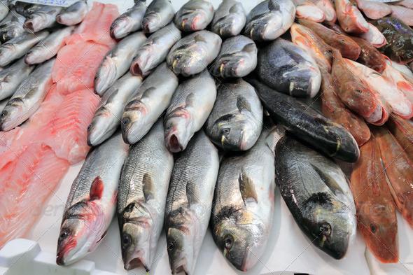 fish market - Stock Photo - Images