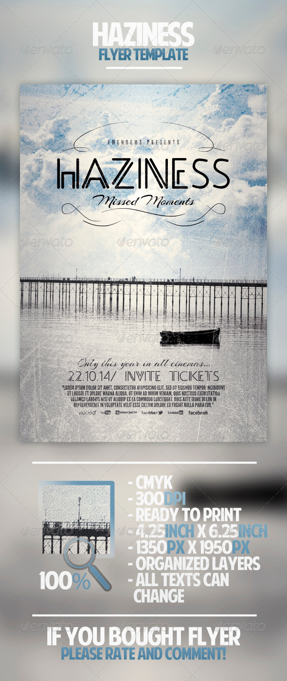 Haziness Flyer Template - Miscellaneous Events