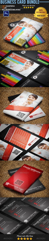 Corporate Business Card Bundle 04 - Corporate Business Cards