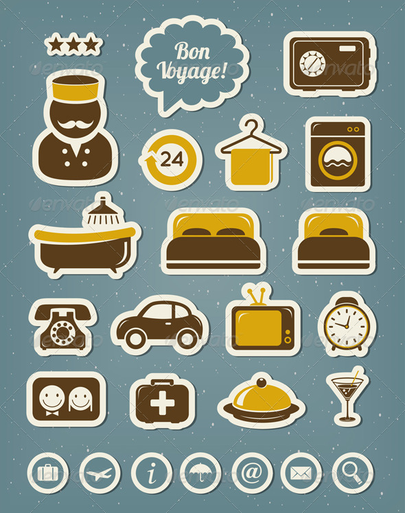 Hotel Icons - Travel Conceptual