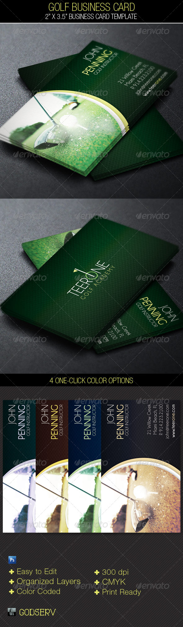 Golf business card template by godserv graphicriver golf business card template industry specific business cards colourmoves