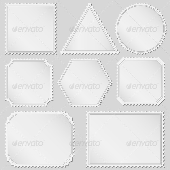 Postage Stamps - Objects Vectors