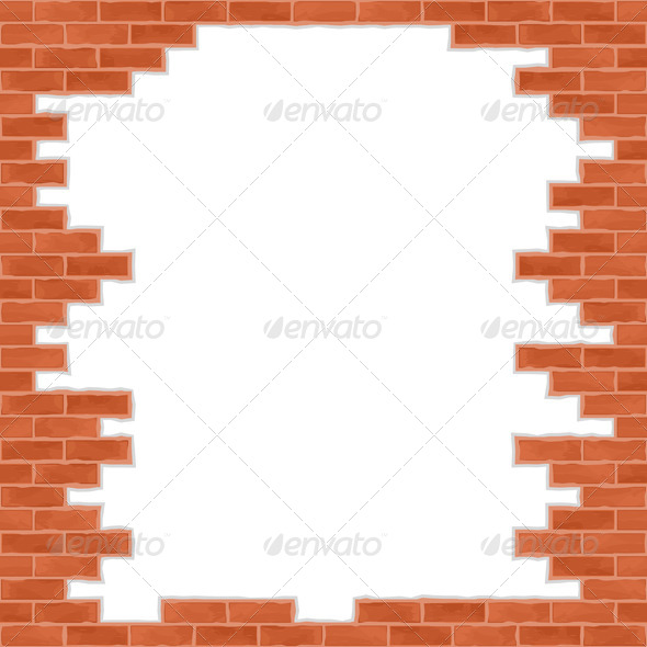 Broken Brick Wall - Backgrounds Decorative