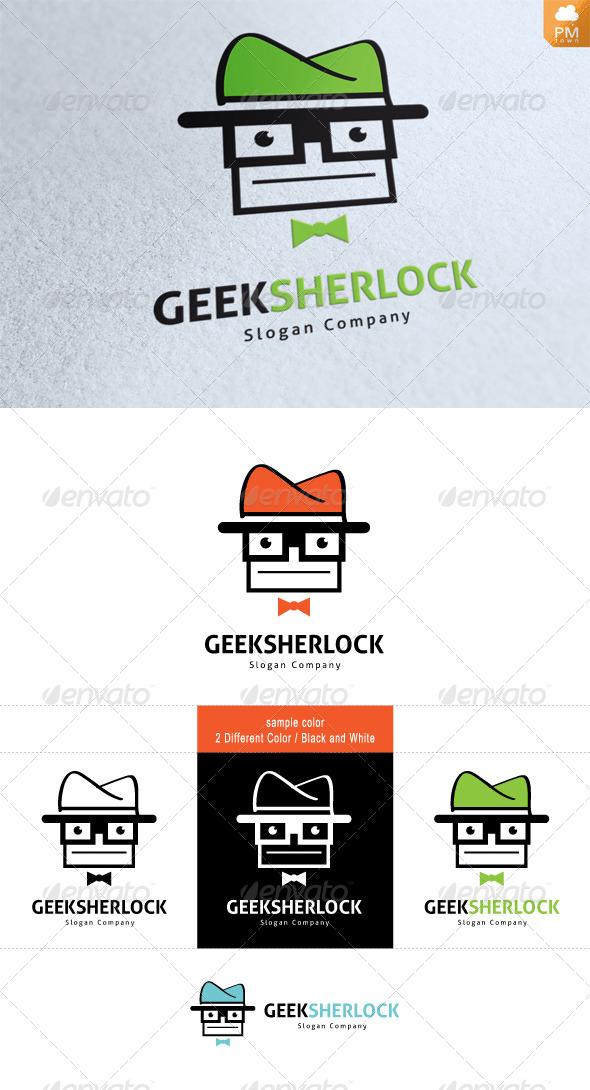 Geek Sherlock - Humans Logo Templates