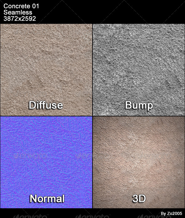 Concrete 01 Tileable - 3DOcean Item for Sale