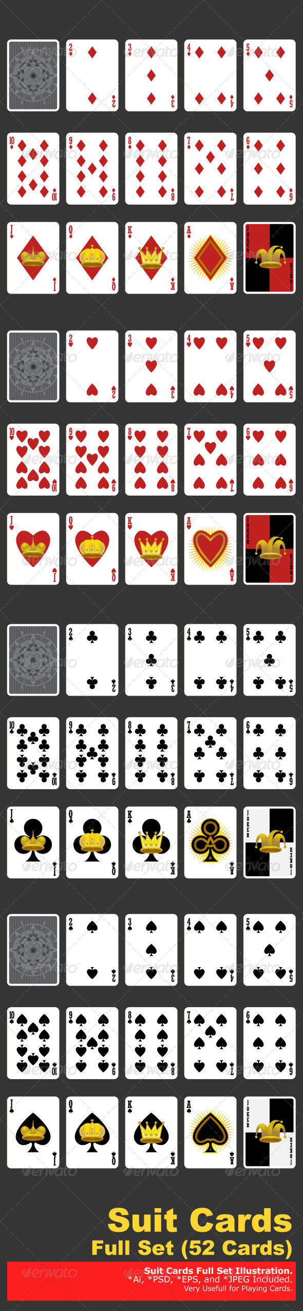 Suit Playing Cards - Sports/Activity Conceptual
