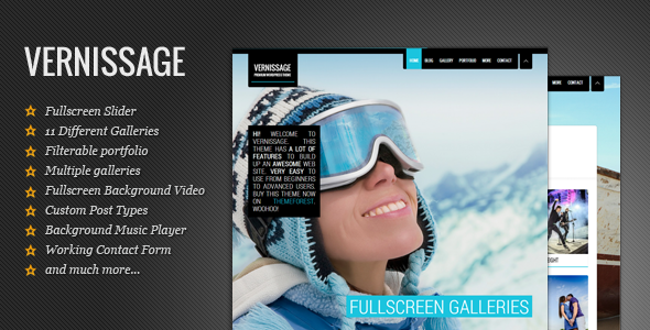 Responsive Photography Theme | Vernissage