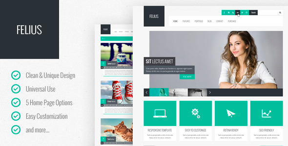 Felius – Multipurpose PSD Template - Business Corporate