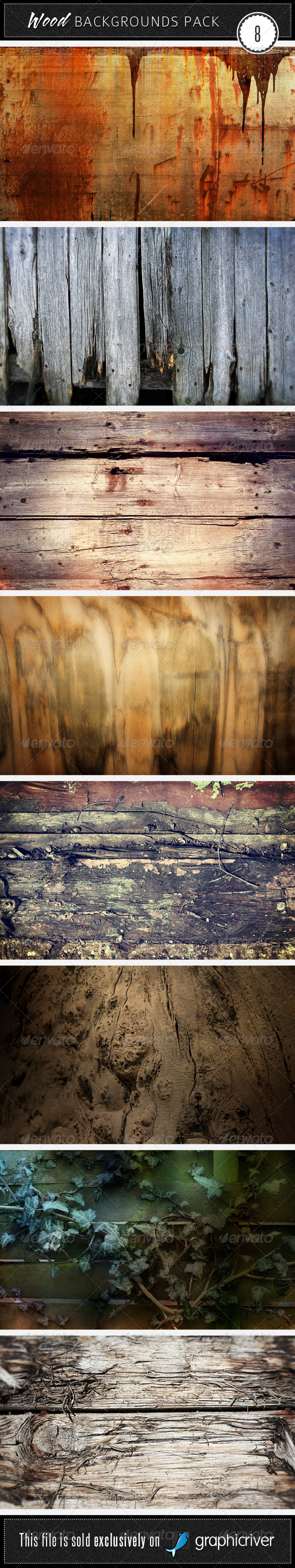 Wood Backgrounds Pack 8 - Wood Textures