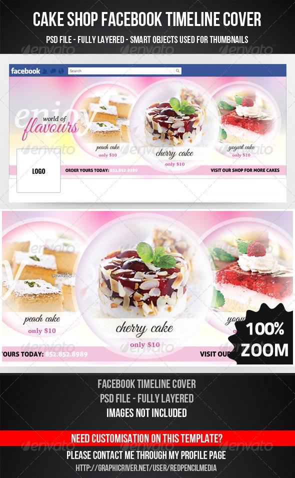 Cake Shop Facebook Timeline Cover - Facebook Timeline Covers Social Media