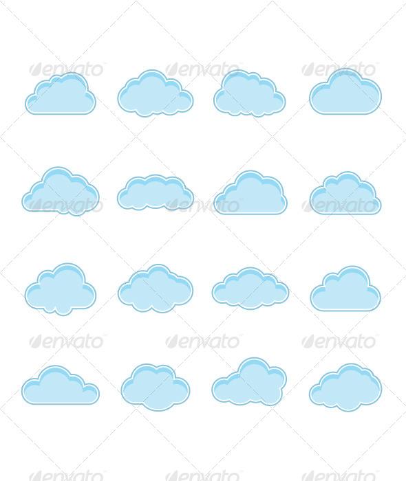 Blue Clouds - Decorative Vectors