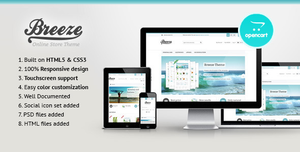 Breeze — Responsive OpenCart Theme