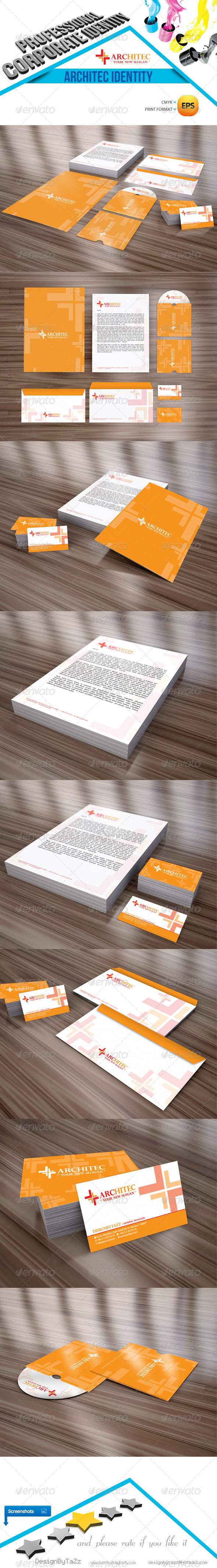 Architec Corporate Identity Package - Stationery Print Templates
