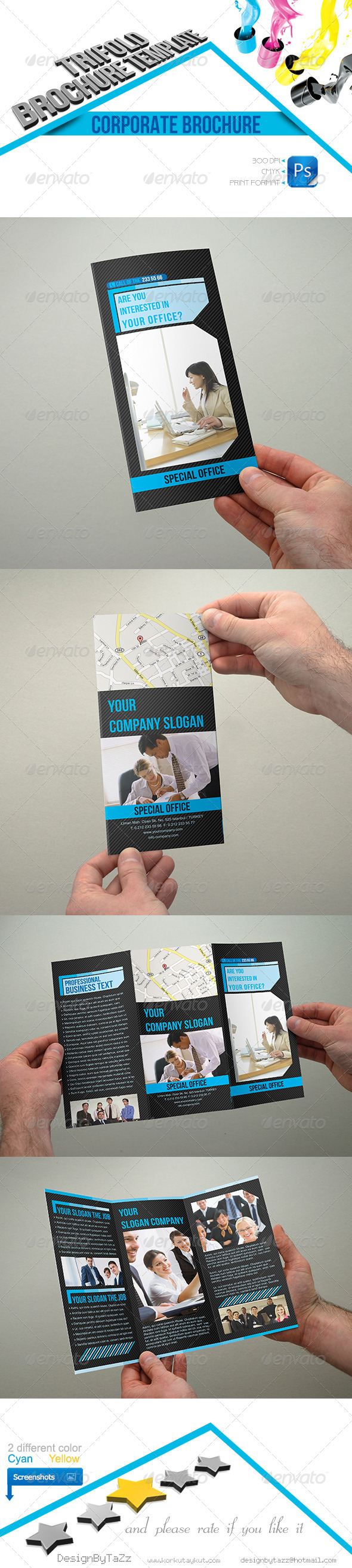 Corporate Business Trifold Template - Corporate Brochures