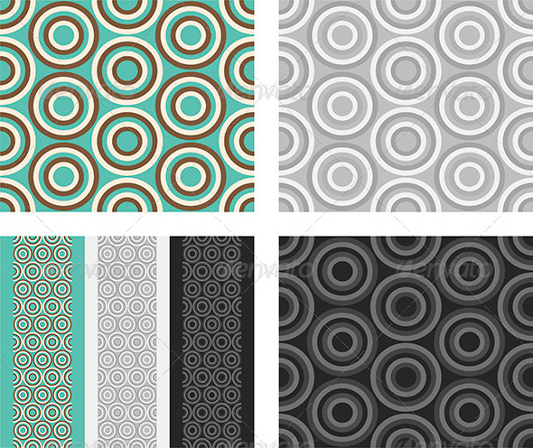 Fashion Pattern with Circles - Patterns Decorative