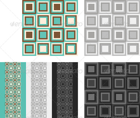 Fashion Pattern with Squares - Patterns Decorative