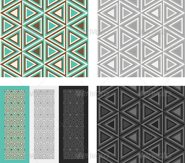 Fashion Pattern with Triangles - Patterns Decorative
