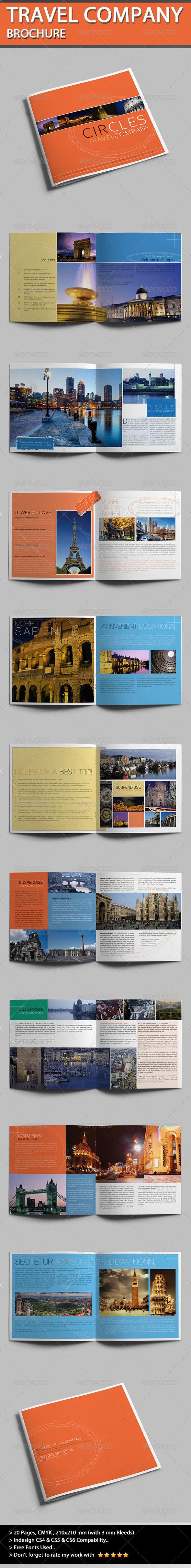 Travel Company Brochure - Circles - Informational Brochures