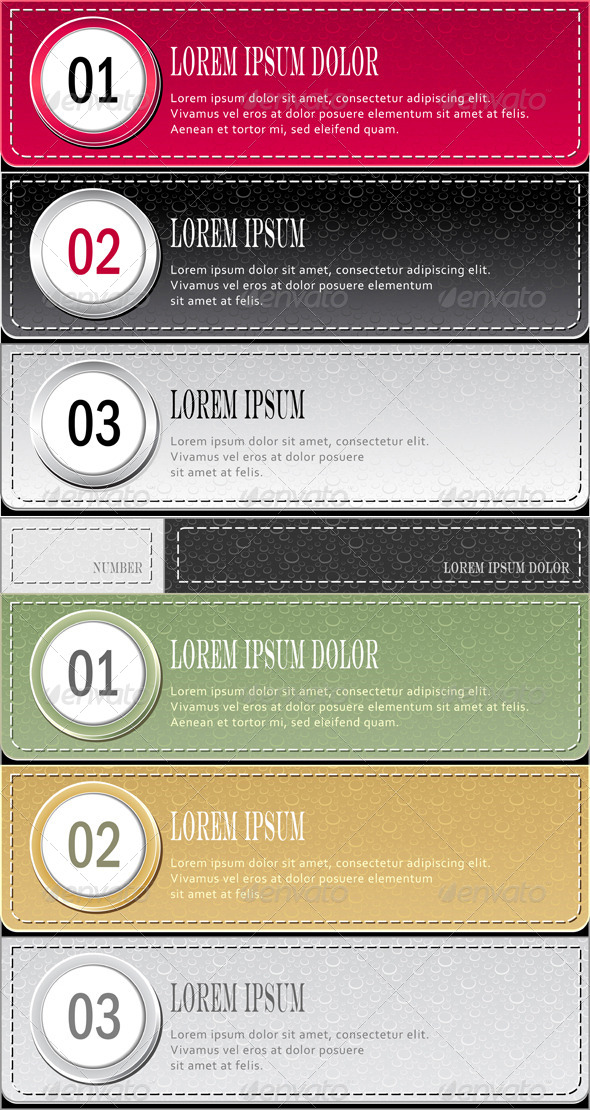 Modern Template Set of Banners and Infographics - Technology Conceptual