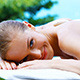 Happy Girl Taking Sun Bath Close to Swimming Pool - VideoHive Item for Sale