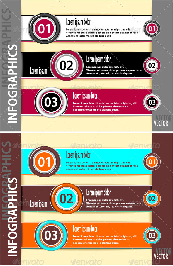 Set Modern Banners or Template of Infographics - Technology Conceptual